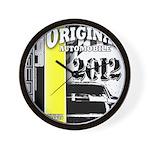 Original Muscle Car Yellow Wall Clock