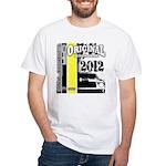 Original Muscle Car Yellow White T-Shirt