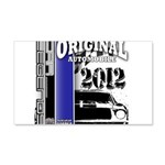 Original Muscle Car Blue 22x14 Wall Peel