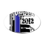 Original Muscle Car Blue 38.5 x 24.5 Oval Wall Pee