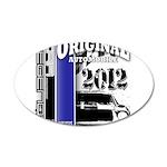 Original Muscle Car Blue 22x14 Oval Wall Peel