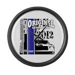 Original Muscle Car Blue Large Wall Clock