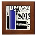 Original Muscle Car Blue Framed Tile