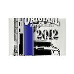 Original Muscle Car Blue Rectangle Magnet (100 pac