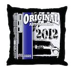 Original Muscle Car Blue Throw Pillow