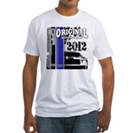 Original Muscle Car Blue Fitted T-Shirt