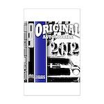 Original Muscle Car Blue Mini Poster Print