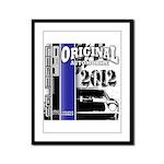 Original Muscle Car Blue Framed Panel Print