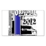 Original Muscle Car Blue Sticker (Rectangle)