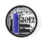 Original Muscle Car Blue Wall Clock