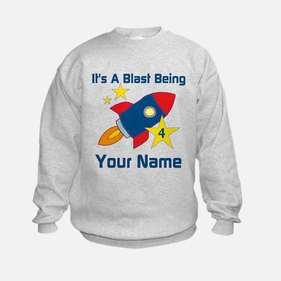 4th Birthday Rocket Sweatshirt