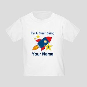 4th Birthday Rocket Toddler T-Shirt