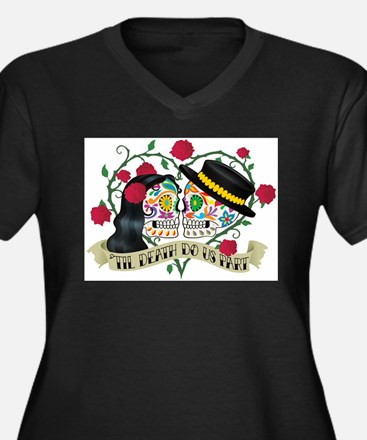 Day Of The Dead Wedding Plus Size T-Shirt