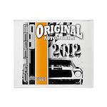 Original Muscle Car Orange Throw Blanket
