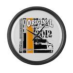 Original Muscle Car Orange Large Wall Clock