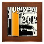 Original Muscle Car Orange Framed Tile