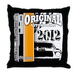 Original Muscle Car Orange Throw Pillow