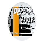 Original Muscle Car Orange Ornament (Oval)