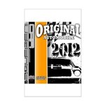 Original Muscle Car Orange Mini Poster Print