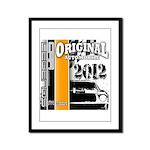 Original Muscle Car Orange Framed Panel Print