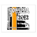 Original Muscle Car Orange Small Poster