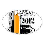 Original Muscle Car Orange Sticker (Oval)
