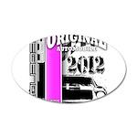 Original Muscle Car Pink 38.5 x 24.5 Oval Wall Pee