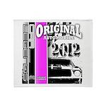Original Muscle Car Pink Throw Blanket