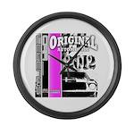 Original Muscle Car Pink Large Wall Clock