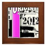 Original Muscle Car Pink Framed Tile