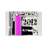 Original Muscle Car Pink Rectangle Magnet (100 pac