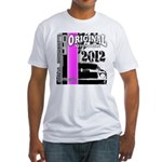 Original Muscle Car Pink Fitted T-Shirt