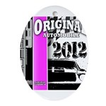 Original Muscle Car Pink Ornament (Oval)