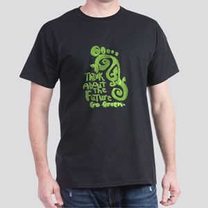 Green Footprint Dark T-Shirt