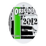 Original Muscle Car Green Ornament (Oval)