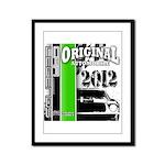 Original Muscle Car Green Framed Panel Print