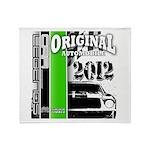 Original Muscle Car Green Throw Blanket