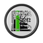 Original Muscle Car Green Large Wall Clock