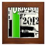 Original Muscle Car Green Framed Tile