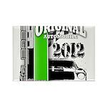 Original Muscle Car Green Rectangle Magnet (100 pa