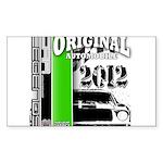 Original Muscle Car Green Sticker (Rectangle)