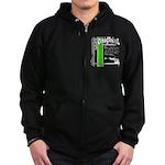 Original Muscle Car Green Zip Hoodie (dark)