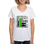 Original Muscle Car Green Women's V-Neck T-Shirt