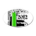 Original Muscle Car Green 38.5 x 24.5 Oval Wall Pe
