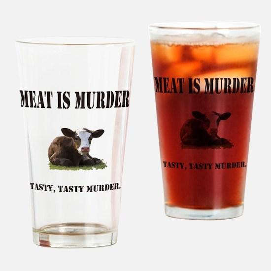 Meat is murder. Drinking Glass