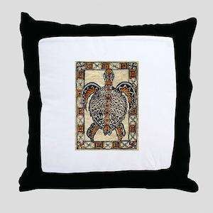 Tapa Turtle Throw Pillow