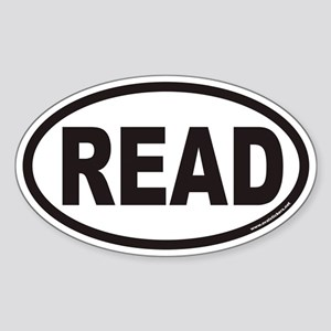 READ Euro Oval Sticker