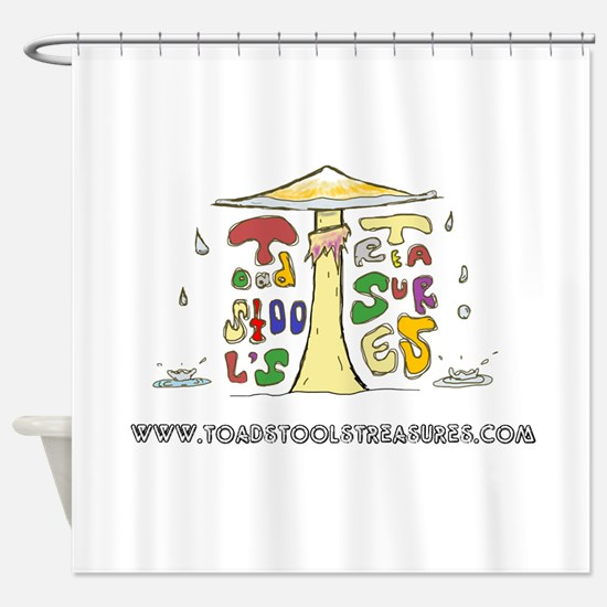 Toadstool's Treasures Rain Shower Curtain