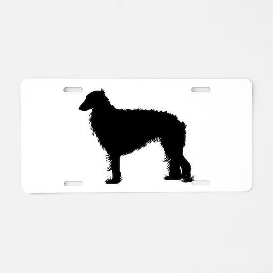 Standing Silken Windhound Ite Aluminum License Pla