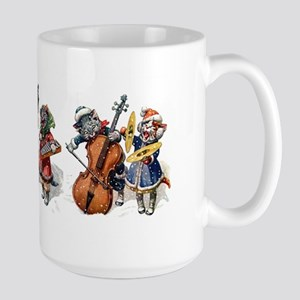Jazz Cats In the Snow Large Mug
